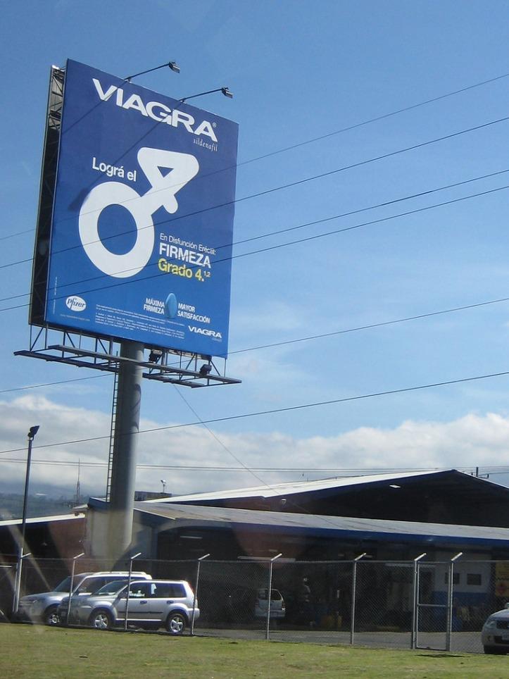 Viagra billboard in San Jose