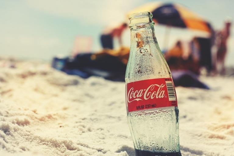 Ocean Coca Cola Summer Bottle Vintage Beach Retro