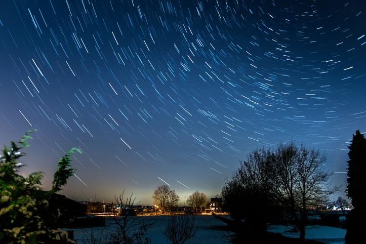 Long Exposure Starry Sky Star Startrails Night