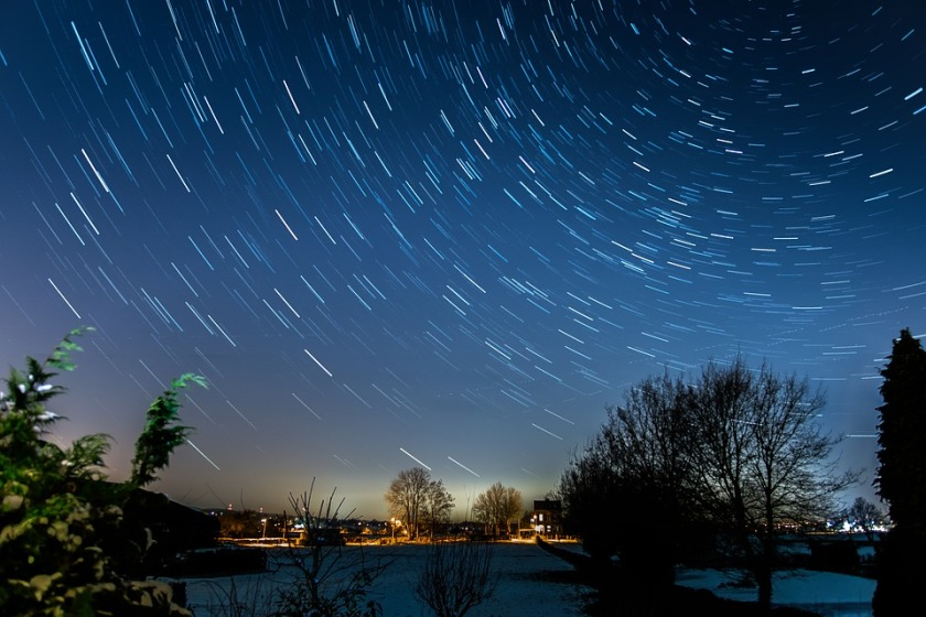 Long Exposure Starry Sky Star Startrails Night