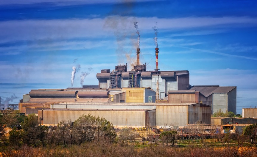 Factory Climate Change Industry Chimney Pollution