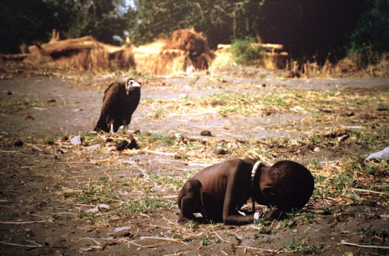 Child and vulture