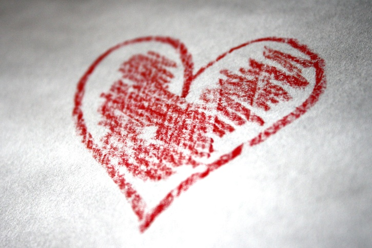 hand, drawn, heart