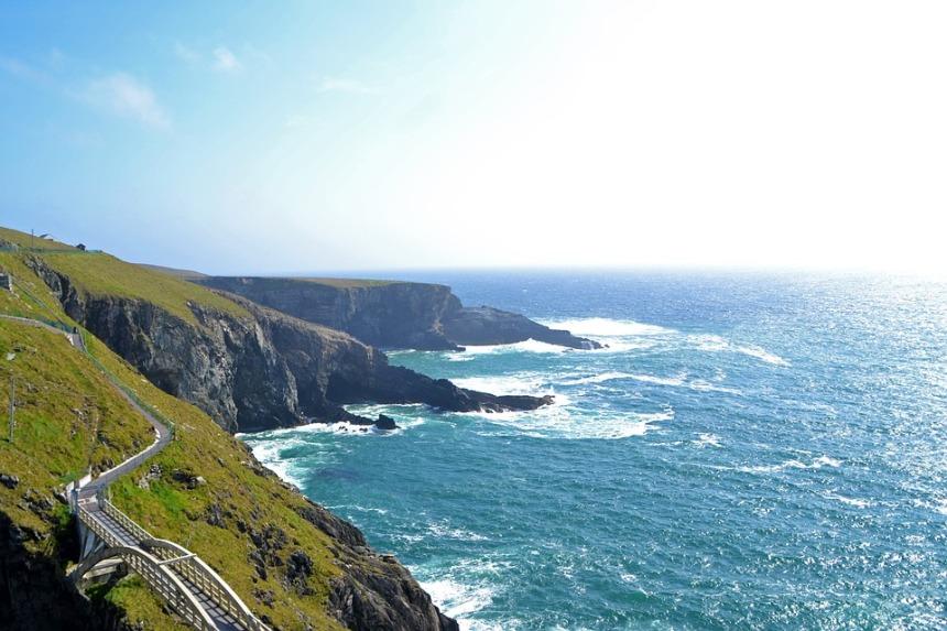 Landscape Coast Ireland Nature Beach Water Sea